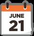 June Twenty One Calendar