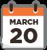 March Twenty Calendar